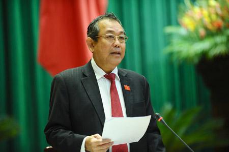 Chánh án Trương Hòa Bình.
