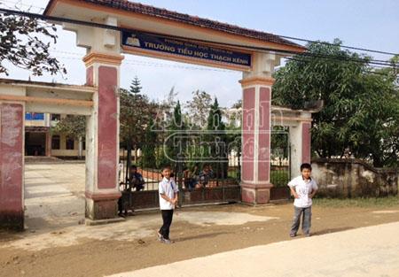 Trường tiểu học Thạch Kênh, nơi cô Phạm Thị Nga đang công tác