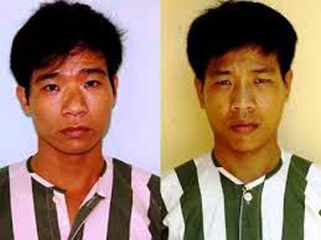 Hai anh em Thi và Hưng ( Thi bên phải) cướp 157 lượng vàng trị giá 6,89 tỷ đồng.