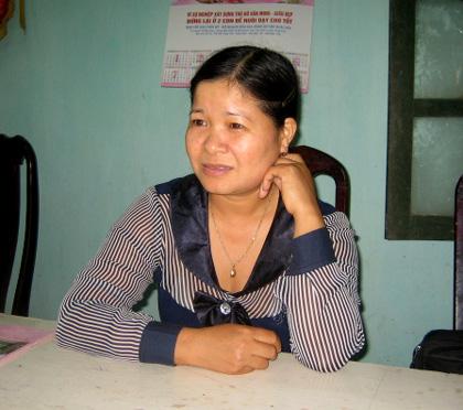 Đỗ Thị Hiền – Phó Ban dân số Kế hoạch hóa gia đình xã Vân Côn: