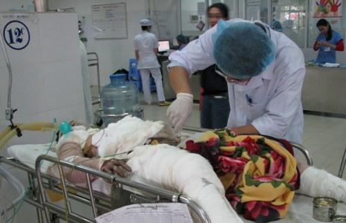 Chị Tiên đang được điều trị tích cực tại Bệnh viện Đà Nẵng