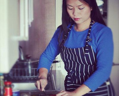 Uyên Lưu có tình yêu đặc biệt với ẩm thực Việt.