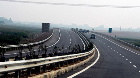 Đoạn đường cao tốc vừa đưa vào khai thác.