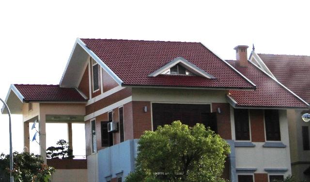 Mái lợp mốt của căn biệt thự