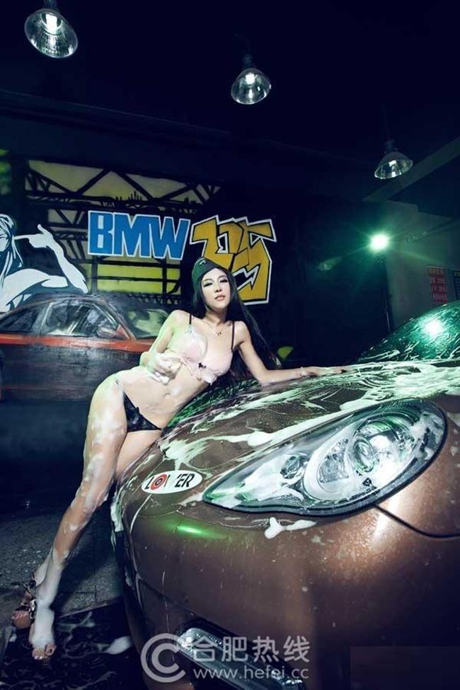 khong the hung ho truoc dan hot girl rua xe nong bong hinh anh 10