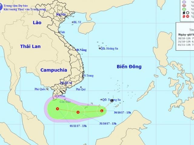 Vùng áp thấp ít dịch chuyển, Biển Đông xuất hiện vòi rồng