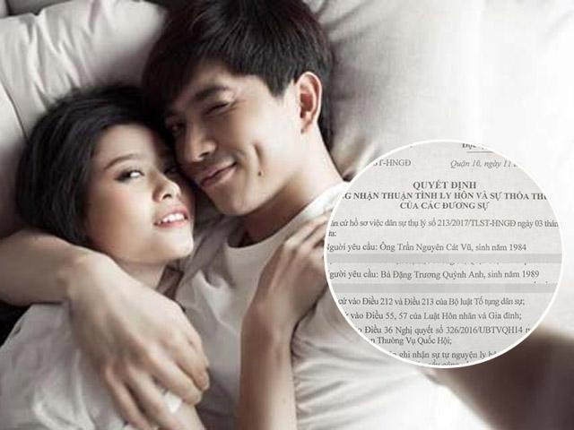 Vợ chồng Trương Quỳnh Anh lộ đơn ly hôn dù luôn khẳng định hạnh phúc