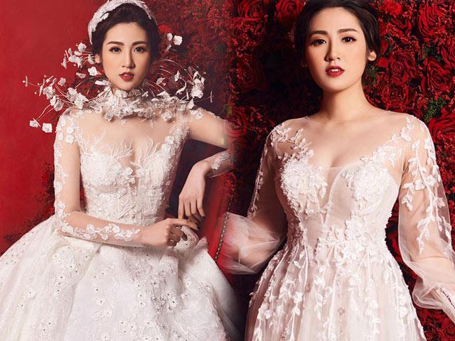 """""""Bạn gái Noo Phước Thịnh"""" lộng lẫy với váy cưới 3 tỷ đồng"""