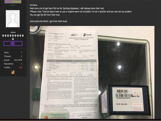 """Hacker lại công bố hình ảnh """"chôm"""" từ FPT Shop"""