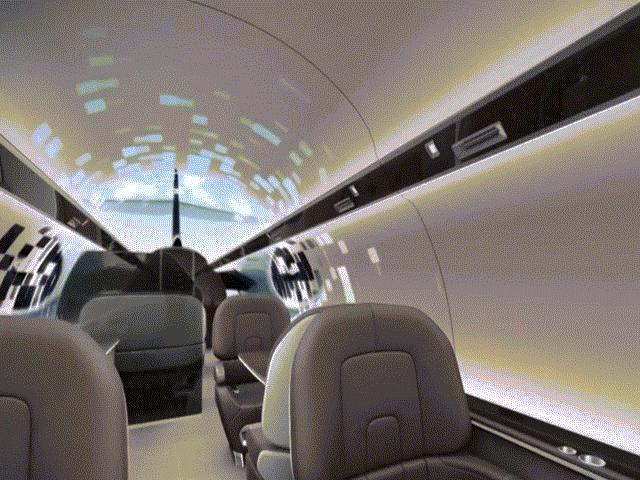 Khám phá siêu máy bay trong suốt nhìn được toàn cảnh bên ngoài