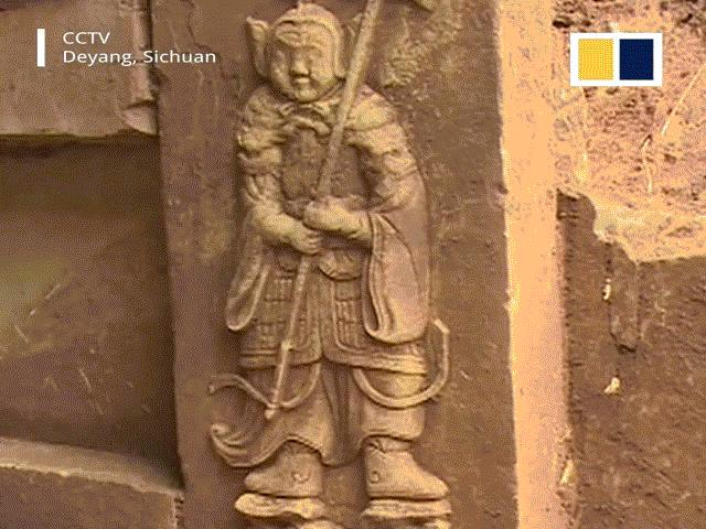 Trung Quốc phát hiện khu mộ cổ với hình chạm khắc chiến binh