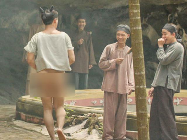 Lộ cảnh Trấn Thành không mặc quần chạy lông nhông trên phim trường