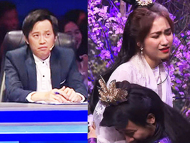 """Trấn Thành ôm Hòa Minzy """"quá đà"""" trên sân khấu khiến Hoài Linh khó chịu"""