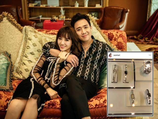 Mừng 2 năm ngày cưới, Trấn Thành tặng Hari Won túi, đồng hồ nhiều choáng ngợp