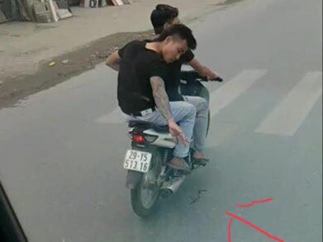 Công an xác minh vụ 2 thanh niên đi xe máy nghi rải đinh trước đầu ô tô đang chạy