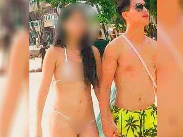 Philippines: Nữ du khách xinh đẹp diện bikini siêu nhỏ gây tranh cãi