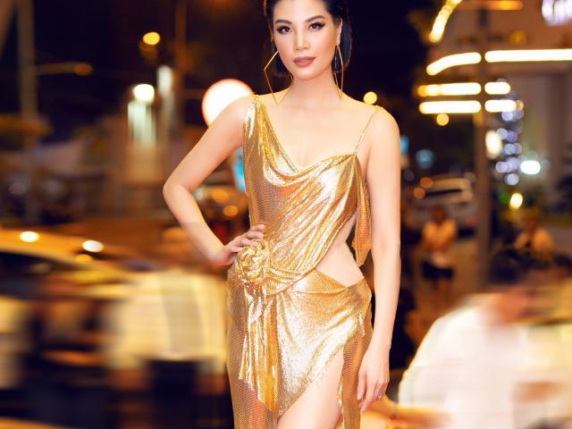 """""""Thót tim"""" vì váy xẻ cao tới hông của siêu mẫu Vũ Cẩm Nhung"""
