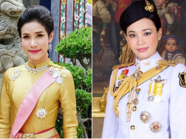 Hoàng quý phi Thái Lan lẻ loi trước ngày bị phế truất, nhà vua sánh đôi bên hoàng hậu