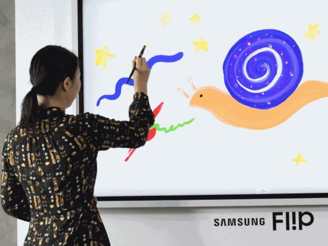 """Samsung trình làng bảng tương tác Flip 2 với bút """"ma thuật"""""""
