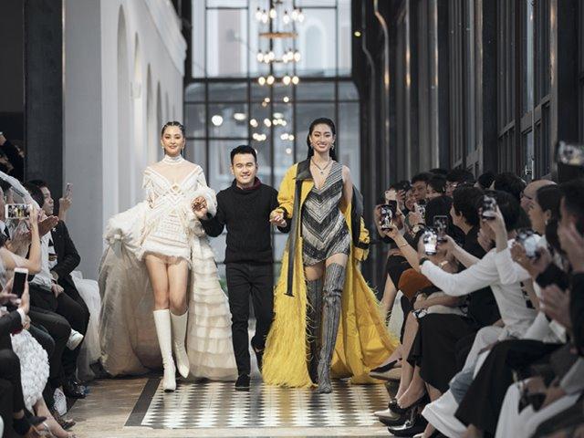 Tiểu Vy - Lương Thùy Linh đọ tài catwalk trong show diễn cảm hứng Tây Bắc