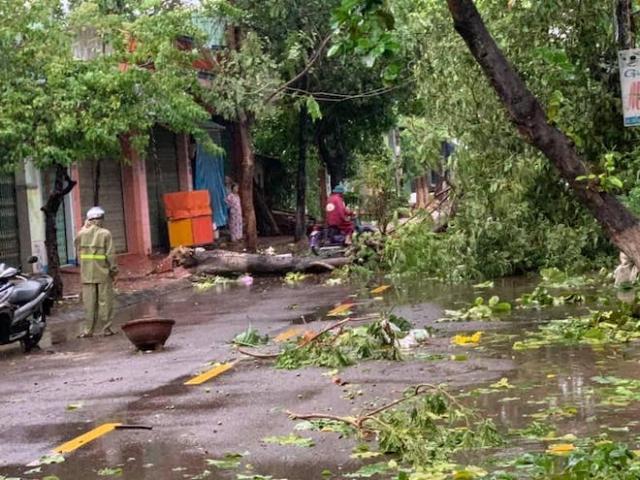 Bình Định, Phú Yên tan hoang sau khi bão số 5 càn quét giữa đêm