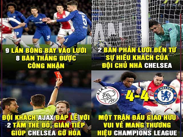 """Ảnh chế C1: Chelsea cầm hòa Ajax đầy kịch tính, Messi """"bất lực"""""""