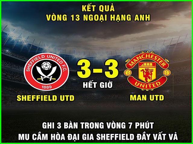 """Ảnh chế: MU chật vật cầm hòa """"đại gia mới lên hạng"""" Sheffield United"""