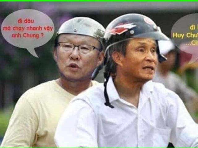 Thầy Park trở thành niềm cảm hứng cho dân mạng chế ảnh sau trận chung kết