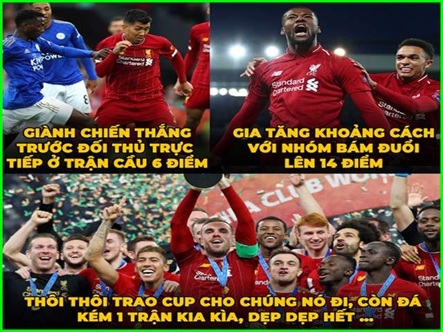 """Ảnh chế: Liverpool thắng như """"chẻ tre"""", cả ngoại hạng Anh run rẩy"""