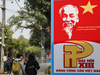 Hà Nội tràn ngập sắc đỏ chào mừng Đại hội đại biểu toàn quốc lần thứ XIII của Đảng