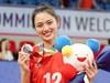 """Ảnh: """"Hoa khôi bóng chuyền"""" Nguyễn Thu Hoài được báo chí Trung Quốc và LĐBC thế giới khen ngợi"""