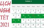 Lịch nghỉ Tết Dương lịch 2021 của công chức, viên chức, NLĐ