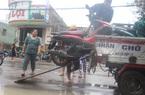 Bình Định: Dịch vụ xe ba gác vận chuyển qua điểm ngập nước giá 30 nghìn đồng/lượt