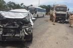 Xế hộp nát đầu, 1 người bị thương do xe ben gây tai nạn liên hoàn