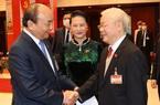 Tổng Bí thư Nguyễn Phú Trọng, Thủ tướng Nguyễn Xuân Phúc và 6 Ủy viên Bộ Chính trị tái cử Trung ương XIII