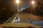 Clip nóng: Tài xế container dằn mặt xe máy đi ngược chiều trong cao tốc Đại lộ Thăng Long