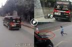Clip: Khoảnh khắc rợn người tại Ninh Bình, xe limousine phóng nhanh đâm bay xe máy