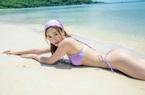 """Á hậu Hà Thu diện bikini màu tím mộng mơ """"đốt mắt"""" người hâm mộ"""