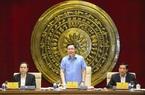 Ảnh: Chủ tịch Quốc hội Vương Đình Huệ làm việc với Hội đồng Dân tộc