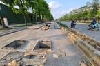 Mặt đường dự án BT 'đại lộ nghìn tỉ' Chu Văn An bị đào xới nham nhở