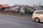 """""""Truy vết"""" tài xế xe đầu kéo liều mạng chạy ngược chiều trên quốc lộ"""
