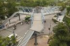 Video: Diện mạo cầu vượt bộ hành chữ Y đầu tiên ở Hà Nội được gấp rút thi công trong đêm