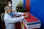 Ảnh: Cử tri Mê Linh bầu cử lại sau sự việc hy hữu Chủ tịch HĐND xã mang 75 phiếu về nhà tự gạch