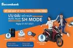 8 khách hàng may mắn trúng thưởng xe máy Honda SH Mode tại Sacombank