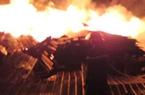 Quảng Ngãi: Cháy rụi xưởng gỗ, thiệt hại 2 tỷ đồng