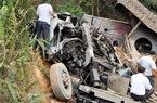 Xe tải mất phanh lao xuống vực, 4 người thương vong