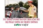 Lái xe uống rượu bia dịp Tết cẩn thận bị phạt đến 40 triệu đồng