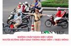 Mức phạt không chấp hành hiệu lệnh người điểu khiển giao thông?