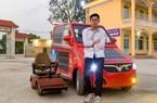 Nam sinh lớp 12 chế tạo ôtô năng lượng mặt trời cho người khuyết tật