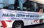 """""""Chuyến xe yêu thương"""" đưa 500 bệnh nhân ung thư về quê đón Tết"""